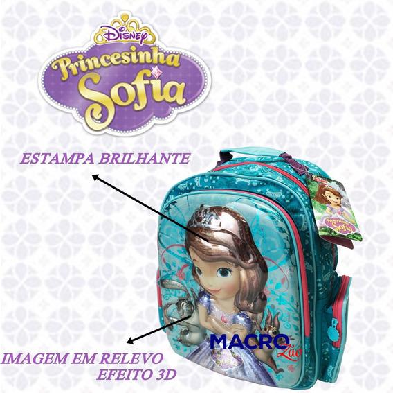 Mochila Infantil Princesa Sofia G Disney Escolar 11189 3d
