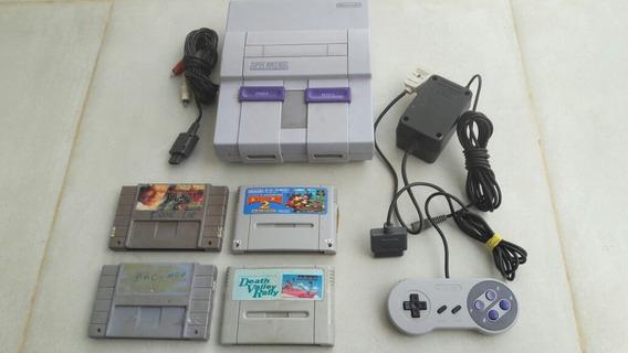 Super Nintendo Original Completo + 1 Jogo Brinde