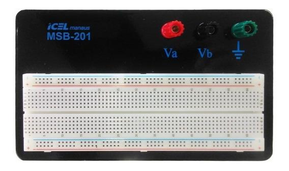 Protoboard 830 Furos Base 3 Bornes Msb-201 Icel