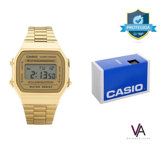 Reloj Casio A168w Gold