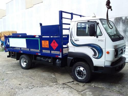 Caminhão Gaiola De Gás Carroceria 4,30 Mts Plataforma Hidrau