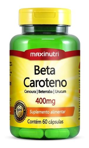 Imagem 1 de 2 de Beta Caroteno Maxinutri 400mg Com 60 Cápsulas