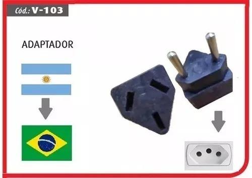 Kit 04un Adaptador Para Tomada Argentina X Tomada Brasileira