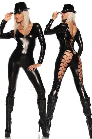 Cat Suit Jumper Body Table Dance Sexi Tipo Cuero Envio Grati