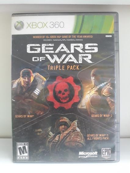 Jogo De Xbox 360: Gears Of War Triple Pack