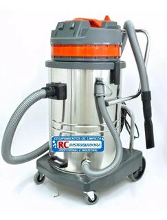 Aspiradora Industrial Polvo Y Liquido 2000w 60lts 2 Motores