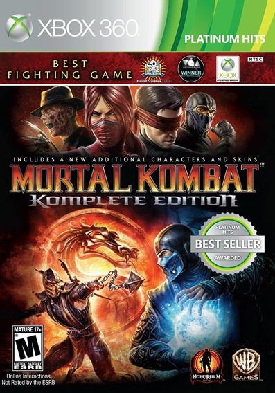 Mortal Kombat 9 Xbox 360 Mídia Digital