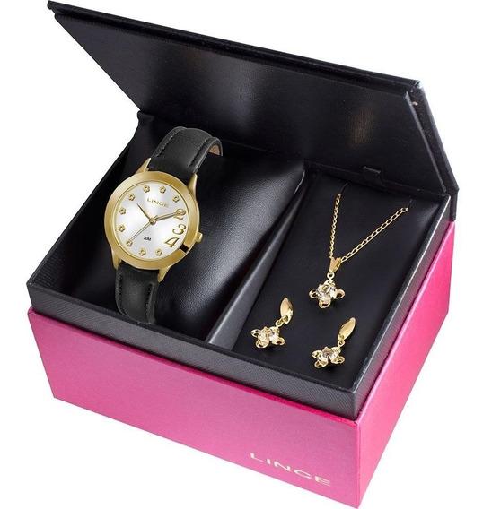 Kit Relógio Feminino Lince Analógico Fashion Lrc4299l K103s2