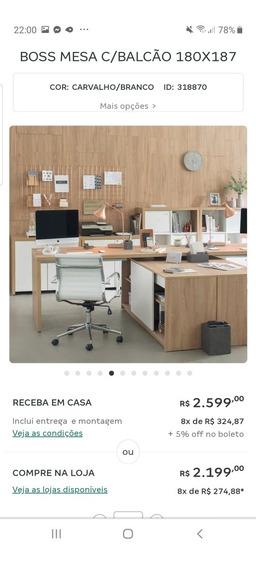 Mesa De Escritório Da Tokstok Em Perfeito Estado De Novo!