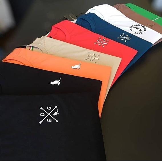 Kit 10 Camisas Basicas Gola Careca Lisa 100% Algodão Premium