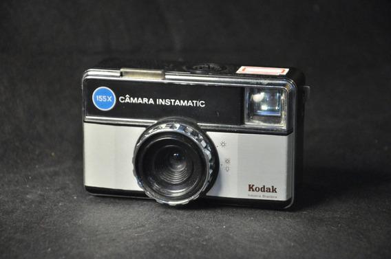Câmera Fotográfica Kodak Instamatic 155x Antiga Coleção