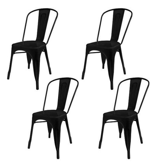 Silla Comedor Apilable Metal Pack X4 Tolix - Cuotas