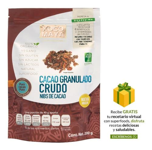 Imagen 1 de 6 de Nibs De Cacao Orgánico Crudo 200 Gr Xoco Maya
