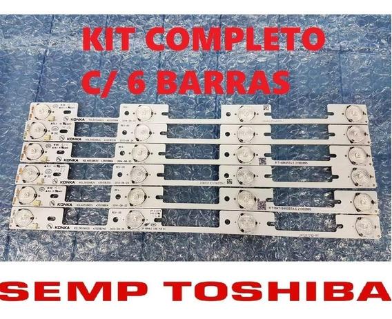 Semp Toshiba 40l2400 40l5400 Dl3944 Dl4045 Kit 6 Barra Led