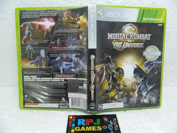 Mortal Kombat Vs Dc Universe Midia Fisica Completa Xbox 360