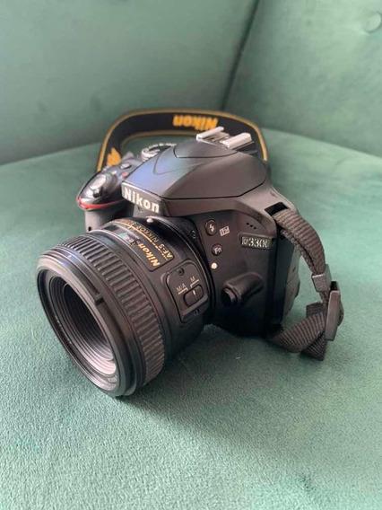 Nikon D3300 + 50mm + 18-55mm 7326 Cliques ! Seminova
