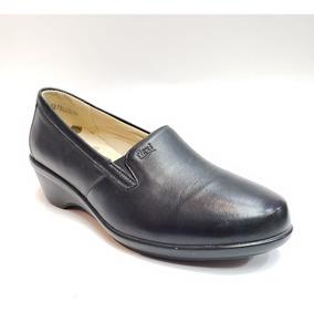 Zapato Formal Tipo Mocasín Tacón Corrido Bajo