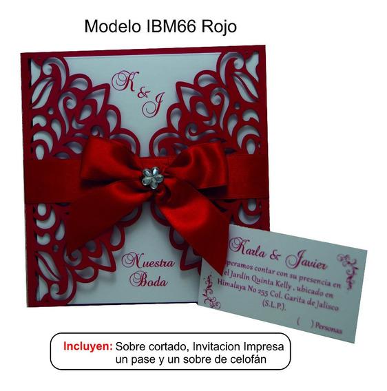 Invitacion Para Bodas Ibm66 Paquete De 30 Pzas