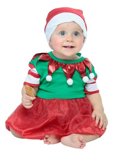 Imagen 1 de 1 de Disfraz Baby Elfo Para Bebé Niña 6-12 Meses