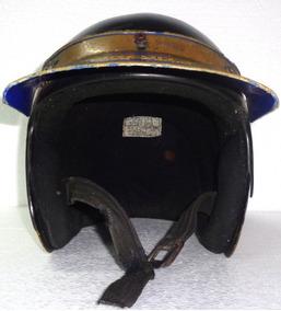 Lindo Capacete De Motociclista Com Adesivos Usado