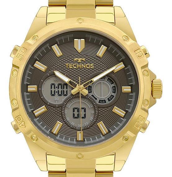 Relógio Technos Masculino Dourado Original Nota Fiscal