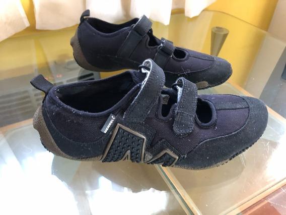 Zapatillas Merrell Negras Con Abrojo Talle 41