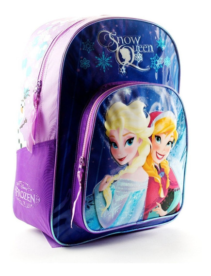 Mochila Espalda Grande 16p Disney Princesas Frozen Manias