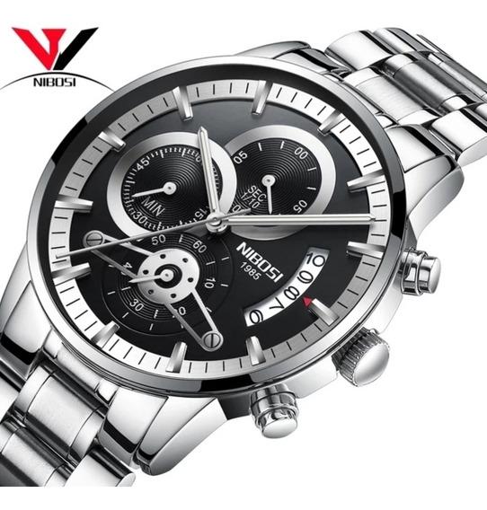 Relógio Masculino Nibosi Original, Promoção, Barato, Luxuoso