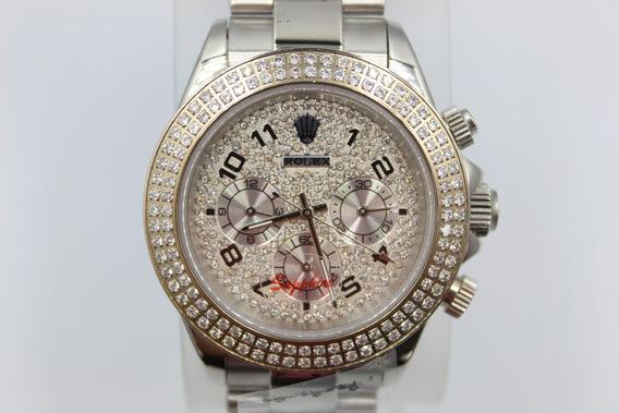 Rolex Cosmograph Daytona Plateado Diamantado