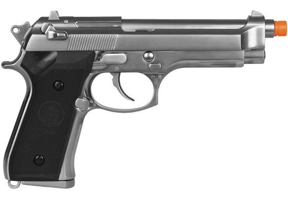 Pistola Gbb We M92 Cromada Airsoft Blow Back Full Metal 6mm