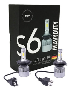 Kit Cree Led H7 H1 H3 H11 22000lm Camiones 24v Heavy Duty