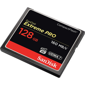 Memória Sandisk Extreme Pro Cf Compact Flash 128gb Lacrado