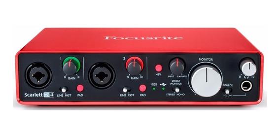 Interface De Áudio Usb Focusrite Scarlett 2i4 2nd - Ac0326