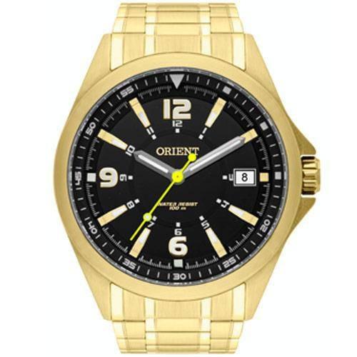Relogio Orient Masculino Dourado  - Mgss1107 P2kx