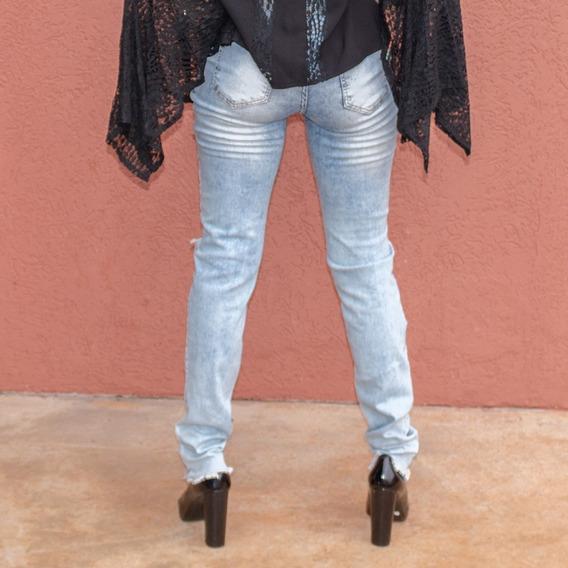 Calça Jeans Rasgada My Story