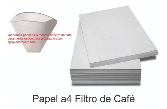 Papel Filtro De Café Para Artesanato A4 500 Folhas