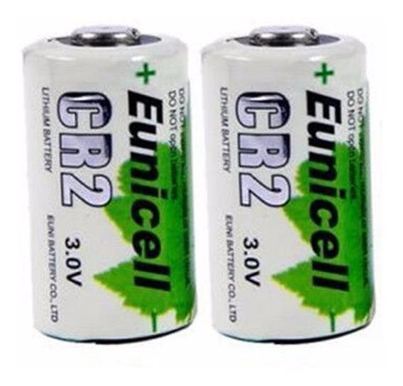 Bateria Cr2 3v Lítio 800mah Eunicell Recarregável Kit 2x