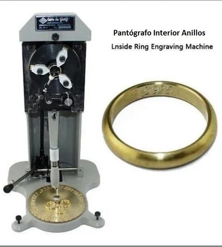 Imagen 1 de 7 de Pantógrafo Inside Ring Engraving Machine Carlo De Giorgi