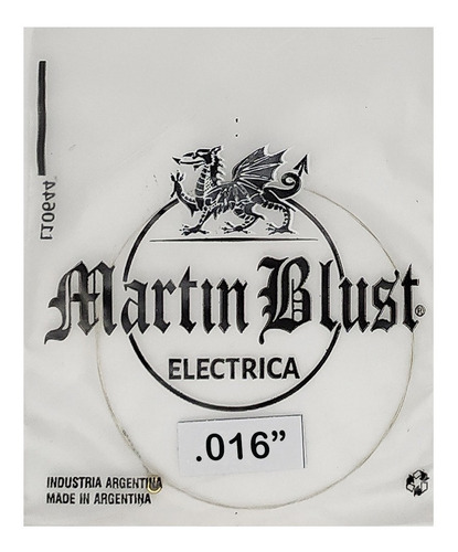 Imagen 1 de 3 de Cuerda Suelta Guitarra Eléctrica 09 010 011 013 16 17 Martin