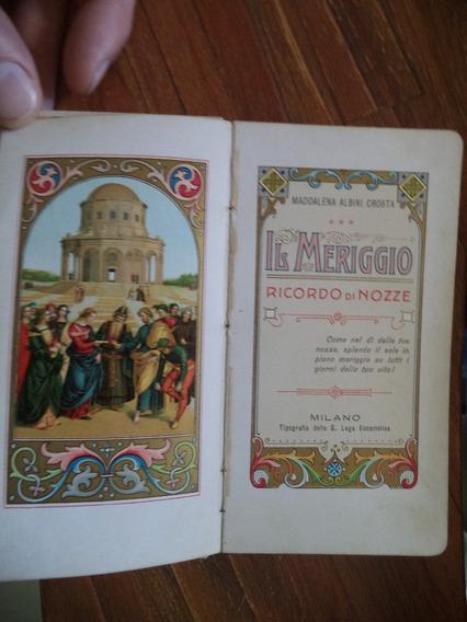Antigo Livro Imigração Italialivro Antigo Italiano/orações