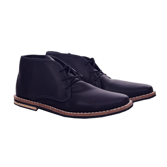 Customs Ba Zapatos Hombre Botitas Vestir Botas Eco Cuero Cla