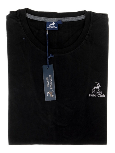 Remera Hombre Escote V Manga Corta Algodon Village Polo Club