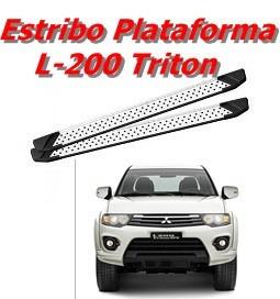 Estribo Lateral Plataforma L-200 Triton Mod. Executive Innox