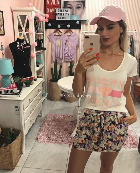 Blusa T-shirt Feminina Estampada Corina Ref. 215