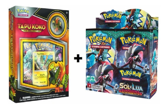 Pokemon Box Sol Lua 2 Guardiões Ascendentes+ Box Tapu Koko