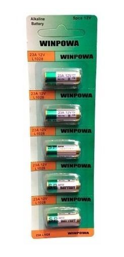 Bateria Alcalina 23a 12v L1028 Cartela Com 5 Pecas