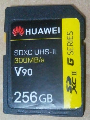 Cartão De Memória Sd Huawei 256gb + Brindes Sem Uso