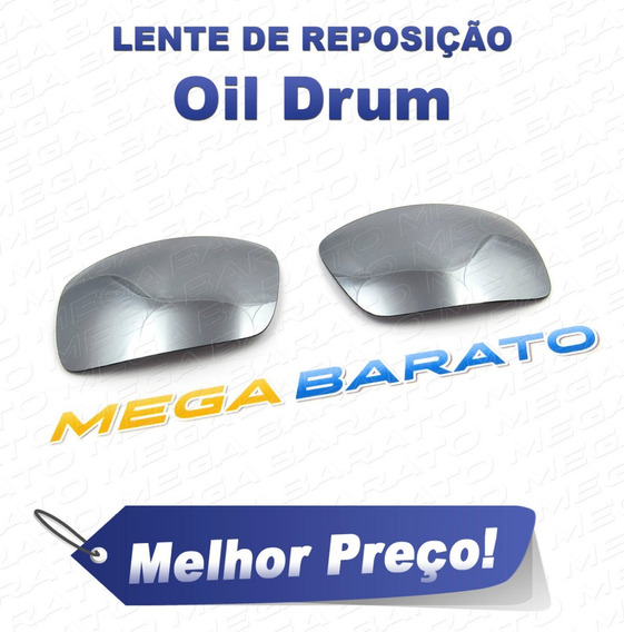 Lente Óculos Oil Drum Titânio Titanium Polarizada