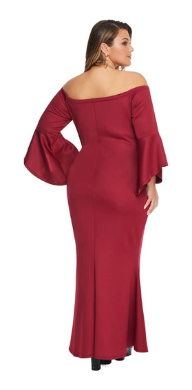 Hermoso Vestido Para Gordita De Fiesta Largo En Tallas Plus