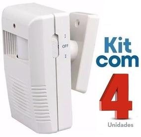 Sensor De Presença Sonoro Sem Fio Ds / Kit Com 04 Unidades